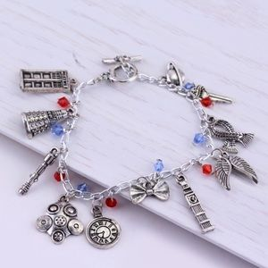 ⭐️2/$25 Dr. Who Charm Bracelet with multi beads